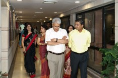 CAG taking a tour of Admin Block